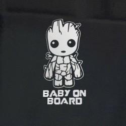 Baby Groot on board autós matrica