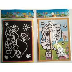 Kaparós színes kifestő lapok - 10 lapos