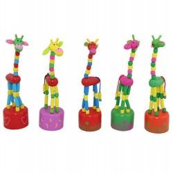Táncoló zsiráf - színes fajáték
