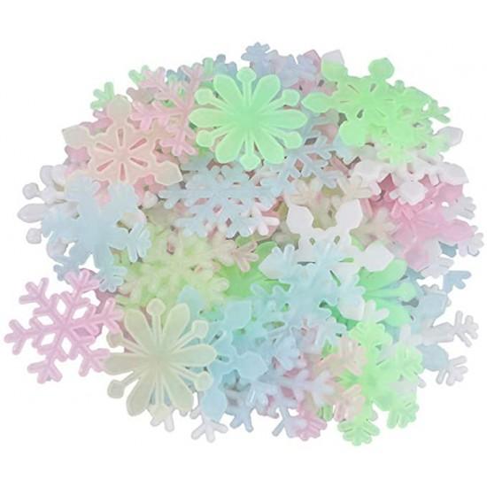 Fluoreszkáló hópelyhek 50 db - több színben