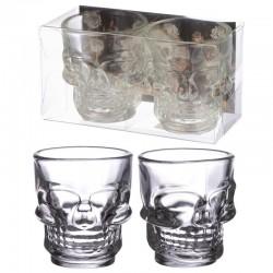 Koponya feles poharak - 2 db-os szett