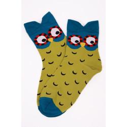 Bagoly mintás színes zokni