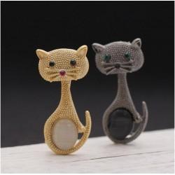 Köves cicás - macskás bross