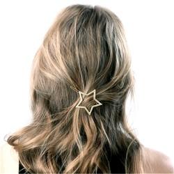 Csillag alakú hajcsat ezüst - arany színben