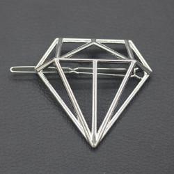 Gyémánt alakú ezüst színű hajcsat