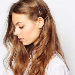 Kör alakú hajcsat ezüst - arany színben