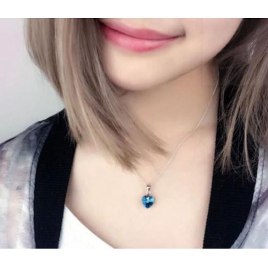 Kis szív alakú Swarovski kristály nyaklánc