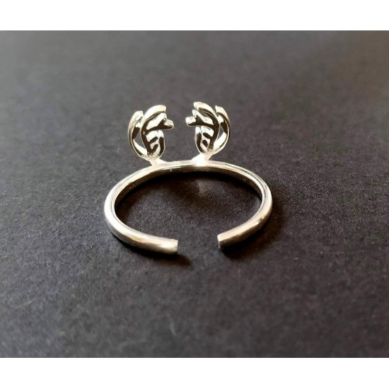 Szarvas agancs állítható méretű gyűrű