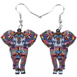 Színes elefánt lelógós fülbevaló