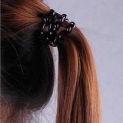 Fekete spirál hajgumi - 3 db