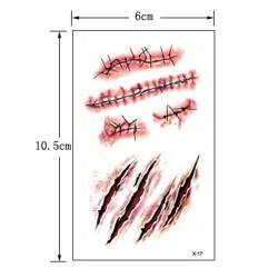Vágás - varrás tetoválás