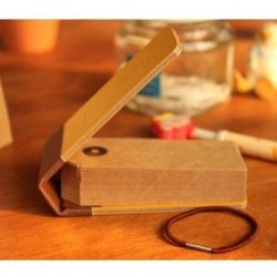 Vintage ajándék kísérő - jegyzettömb