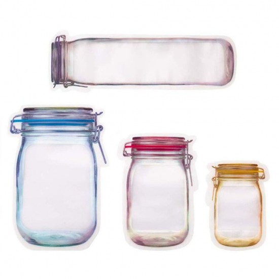 Csatos üveg alakú tasakok 12 db