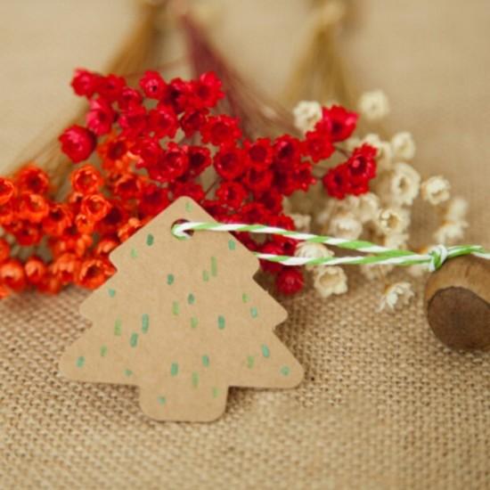 Fenyőfa ajándék kísérő lapok