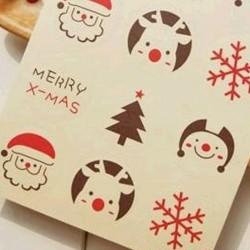 Karácsonyi matrica csomagoláshoz