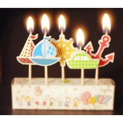 Mintás születésnapi gyertya gyerekeknek