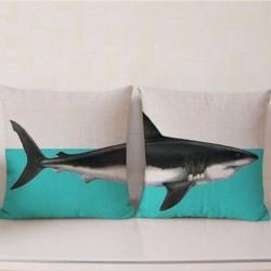 Dupla párnahuzat cápa mintával