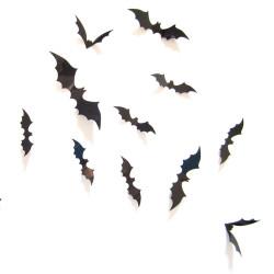 3D denevér Halloween dekoráció