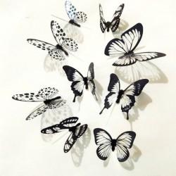 Fekete-fehér pillangó falmatrica