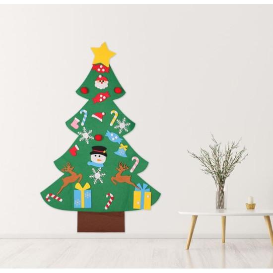 Filc díszíthető karácsonyfa falra
