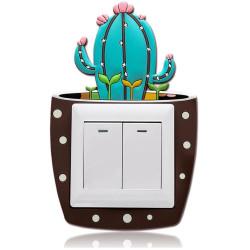 Szilikon kaktusz világító villanykapcsoló dekoráció