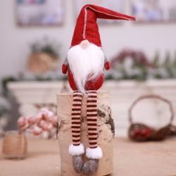 Hosszú lábú ülő Mikulás vagy karácsonyi manó