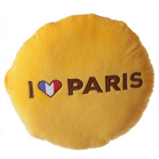 I love Paris - kerek plüss párna