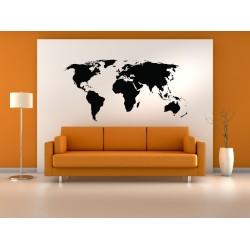 Nagy méretű világtérkép falmatrica
