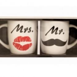 Mr és Mrs bögre készlet pároknak