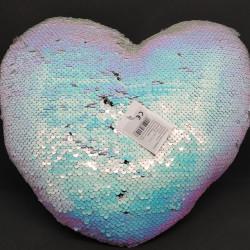 Szív alakú párna átfordulós sellő flitterekkel