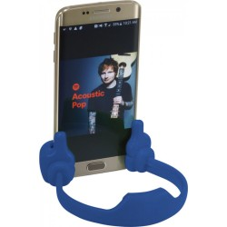 Asztali kék kezes telefon tartó