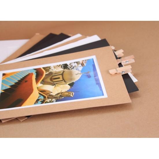 Karton képkeretek facsipesszel - 10 db