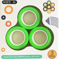 Mágneses gyűrűk 3 db - stresszoldó játék