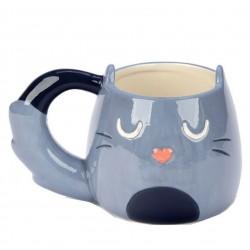 Feline macska - szürke cica - alakú bögre