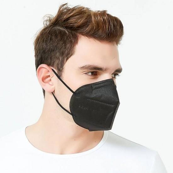 FFP2 - KN95 felnőtt méretű fekete színű maszk