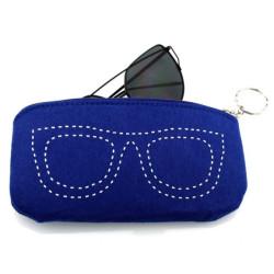 Filc szemüvegtok szemüveg mintával