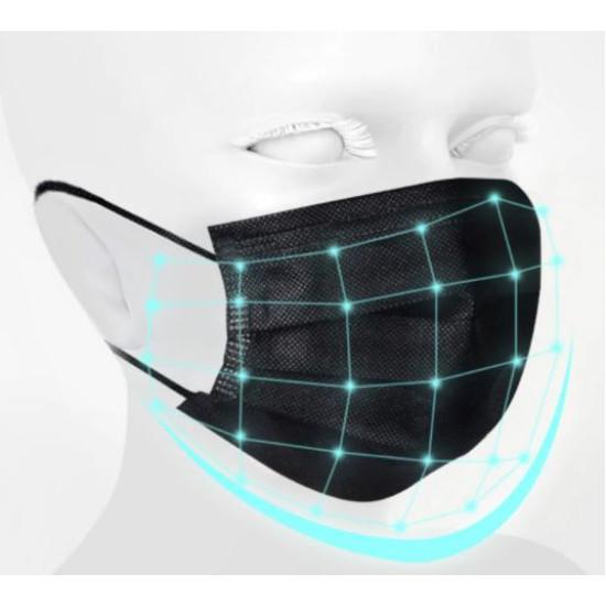 Három rétegű eldobható sebészi maszk, felnőtt méret (10 db)