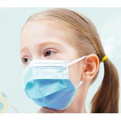 Három rétegű eldobható sebészi maszk, kis méret (10 db)