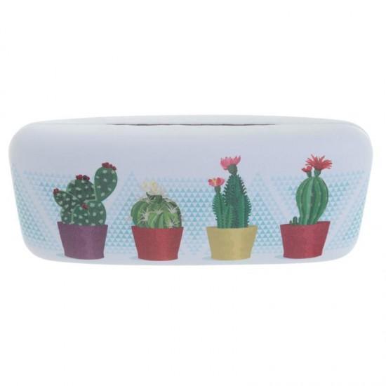 Kaktusz mintájú szemüvegtok