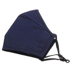 Kétrétegű kék/fekete állítható felnőtt maszk