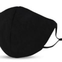 Kétrétegű fekete állítható felnőtt maszk