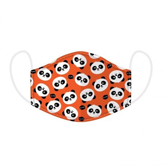 Kétrétegű pandás gyerek maszk