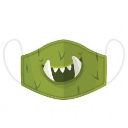 Kétrétegű zöld szörnyes gyerek maszk