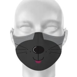 Kétrétegű vicces kutyás maszk