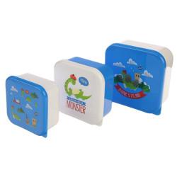 Ételhordó uzsonnás doboz 3 db-os szett - Nessie