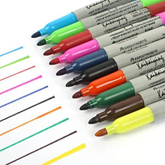 12 színű alkoholos filctoll készlet - permanens marker