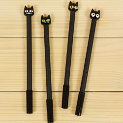 Cicás tűfilc - toll fekete színben - 4 db