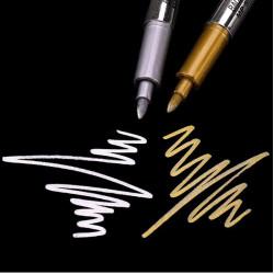 Metál színű filctoll - 2db arany, ezüst