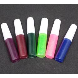 6 színű csillámos dekoráló ragasztó készlet