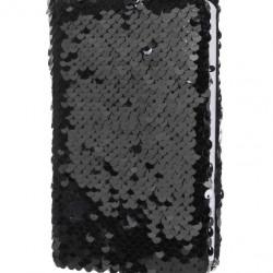 Simogatós sellő flitteres napló / ezüst-fekete
